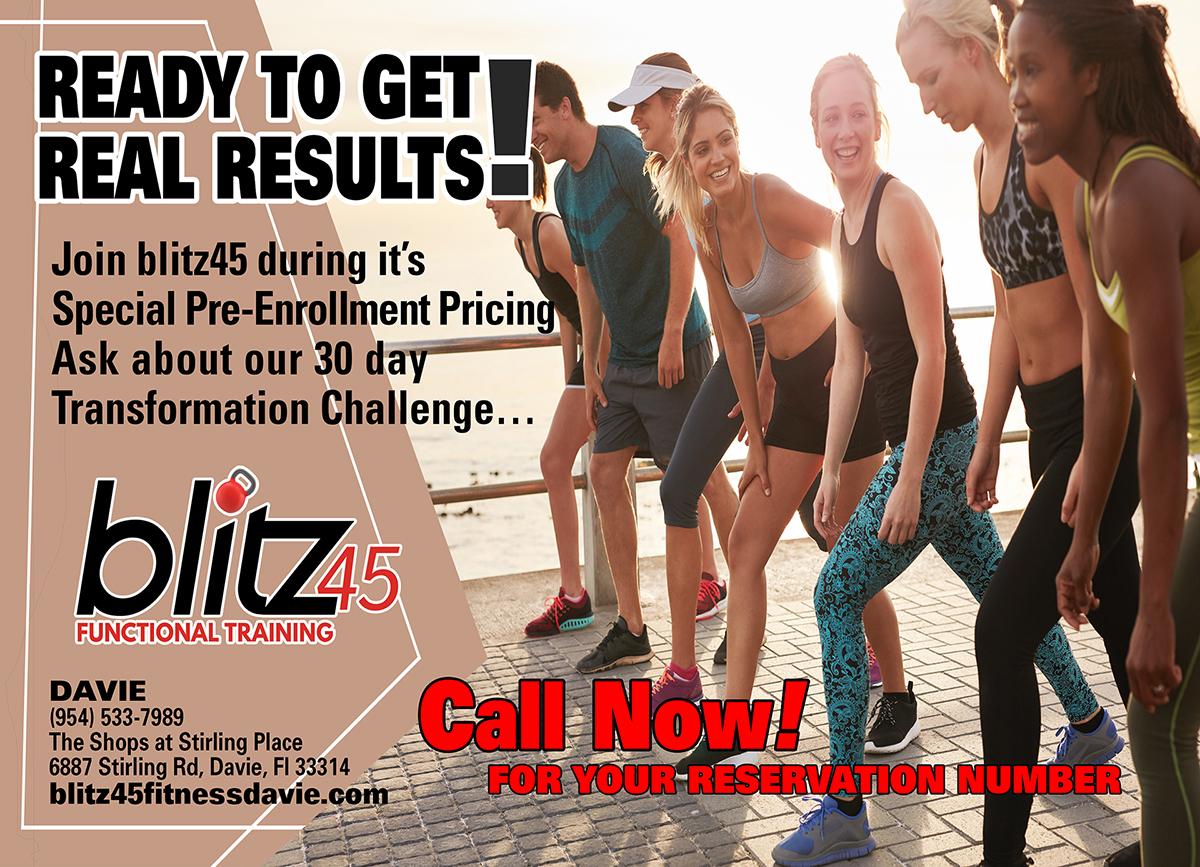 Blitz45 Fitness Ad