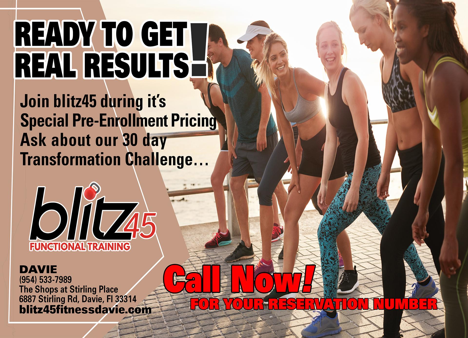 Blitz 45 Fitness Davie Ad